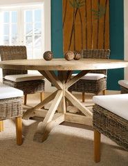 "Salvaged Wood 60"" Round Dining Table - Padma's Plantation"