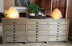 Salvaged Wood Printmaker's  Sideboard - Padma's Plantation