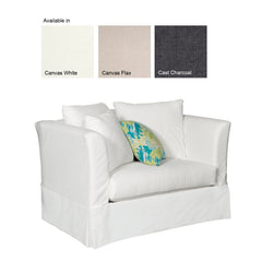 SUNSET BEACH CHAIR AND A HALF - SUNBRELLA CAST CHARCOAL - Padma's Plantation