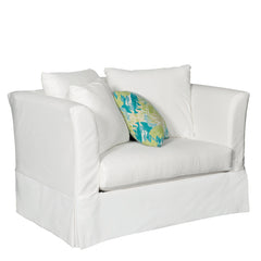 SUNSET BEACH CHAIR AND A HALF - SUNBRELLA CANVAS WHITE