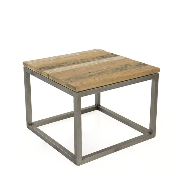 SALAMANCA RECYCLED TEAK END TABLE - Padma's Plantation