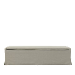 SANDSPUR BEACH DINING BENCH - BRUSHED LINEN