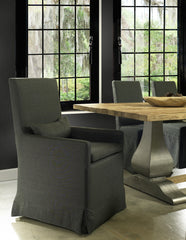 SANDSPUR BEACH ARM DINING CHAIR - CHARCOAL GREY - Padma's Plantation