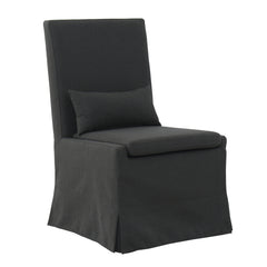 SANDSPUR BEACH DINING CHAIR W/ CASTERS - CHARCOAL GREY