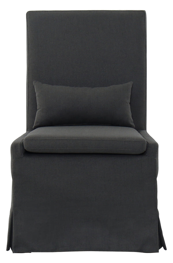 SANDSPUR BEACH DINING CHAIR - CHARCOAL GREY - Padma's Plantation