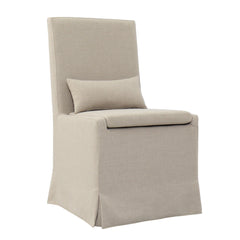 SANDSPUR BEACH DINING CHAIR W/ CASTERS- BRUSHED LINEN