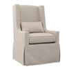 SANDSPUR BEACH SWIVEL LOUNGE CHAIR - SLIPCOVERED - BRUSHED LINEN