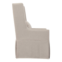 SANDSPUR BEACH SWIVEL LOUNGE CHAIR - SLIPCOVERED - BRUSHED LINEN - Padma's Plantation
