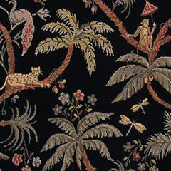 5 YARDS OF RAYON / POLYESTER FABRIC - COSTA BLANCA - XANADU - JUNGLE PATTERN