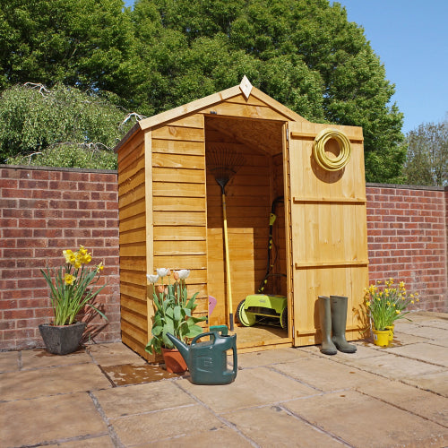 Mercia 3x4 - Overlap Apex Windowless Shed - GardenPromos