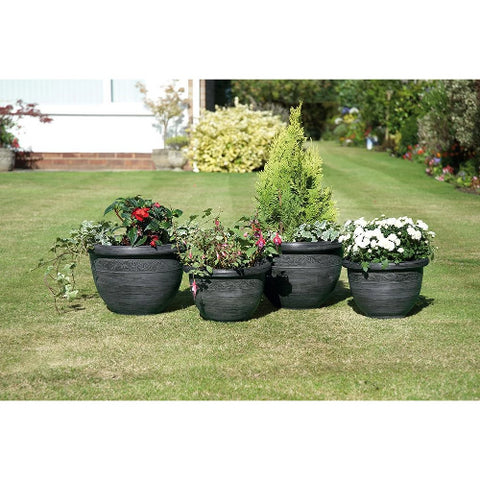 Gablemere 4 Antique Style Wenlock Planters - GardenPromos