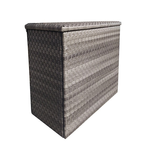 Signature Weave Large/Medium Cushion Box in 3 Weave Grey - GardenPromos