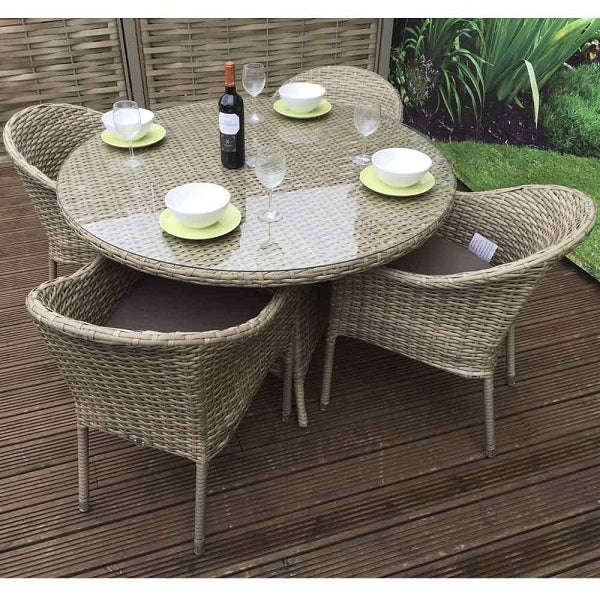 Signature Weave Darcey Round Dining Set