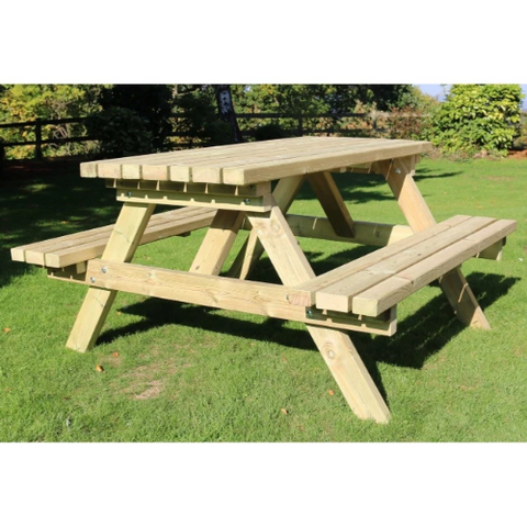 Churnet Valley  Deluxe 8 Seater Picnic Table - GardenPromos