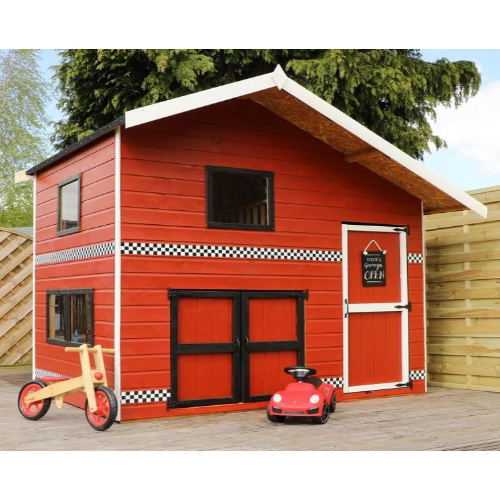 Mercia Double Storey Garage Playhouse - GardenPromos