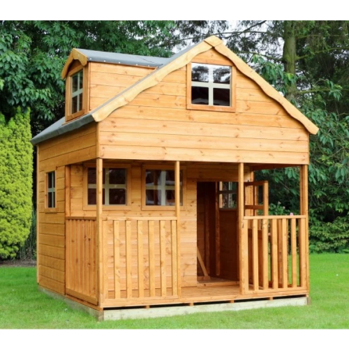 Mercia Double Storey Playhouse with Dorma Window - GardenPromos