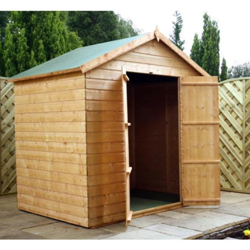 Mercia 5x7 - Shiplap Apex Shed  - Windowless - GardenPromos