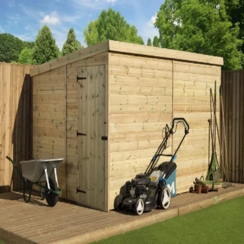 Image of Empire Sheds Large Size Pressure Treated Pent Garden Storage - GardenPromos