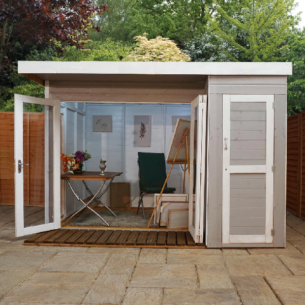 Mercia 10x8 - Premium Garden Room with Side Shed - GardenPromos