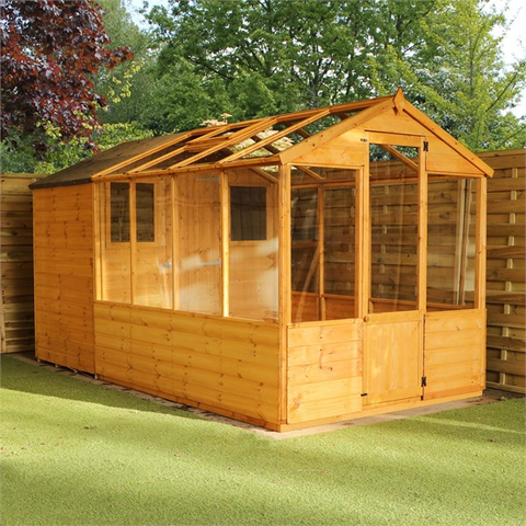 Mercia 12x6 - Traditional Apex Greenhouse Combi Shed - GardenPromos