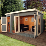Mercia 12x8 - Premium Garden Room with Side Shed - GardenPromos