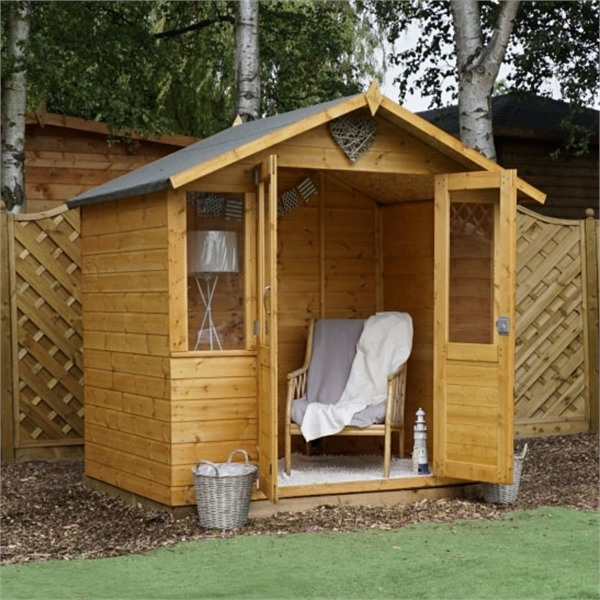 Mercia 7x5 - Traditional Shiplap Summerhouse - GardenPromos