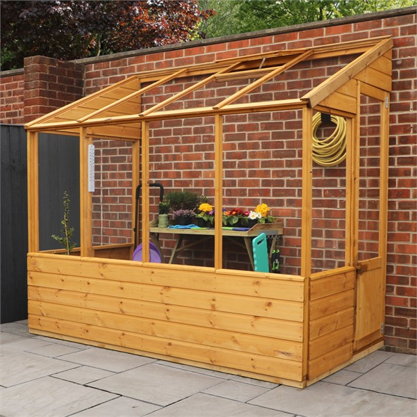 Mercia 8x4 - Traditional Lean Too Greenhouse - GardenPromos