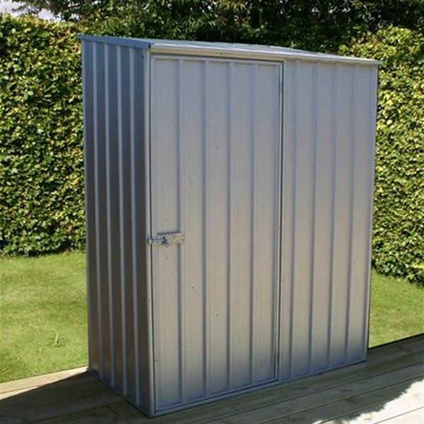 Mercia Absco Space Saver 5ft x 2ft 7in Metal Shed - Titanium - GardenPromos