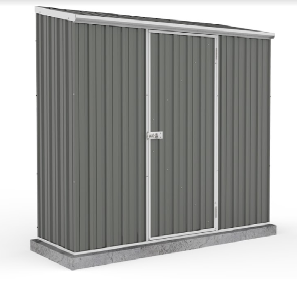 Mercia Absco Space Saver 7ft 5in x 2ft 7in Metal Shed - Grey - GardenPromos