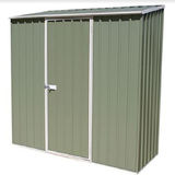 Mercia Absco Space Saver 7ft 5in x 2ft 7in Metal Shed - Pale Eucalyptus - GardenPromos