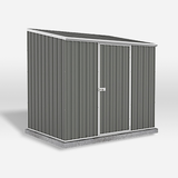 Mercia Absco Space Saver 7ft 5in x 5ft Metal Shed - Grey - GardenPromos