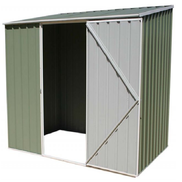 Mercia Absco Space Saver 7ft 5in x 5ft Metal Shed - Pale Eucalyptus - GardenPromos