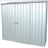 Mercia Absco Space Saver 7ft 5in x 5ft Metal Shed - Titanium - GardenPromos