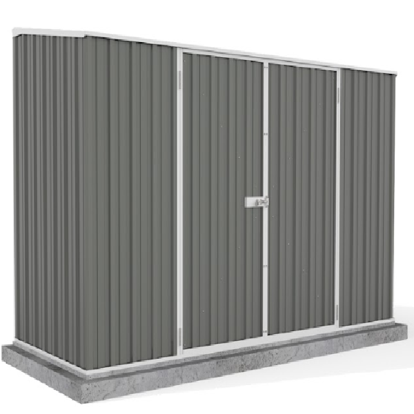 Mercia Absco Space Saver 9ft 10in x 5ft Metal Shed - Grey - GardenPromos