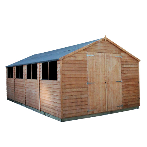 Mercia 20x10 - Overlap Apex Double Door Shed - GardenPromos