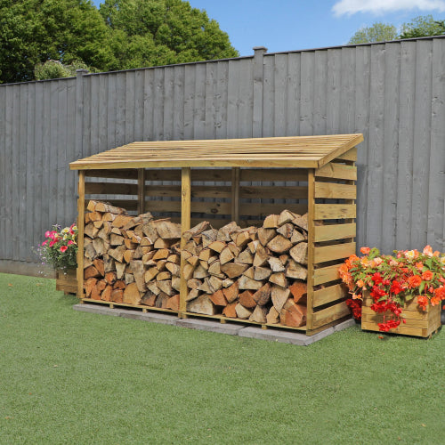 Mercia Double Log Store - GardenPromos