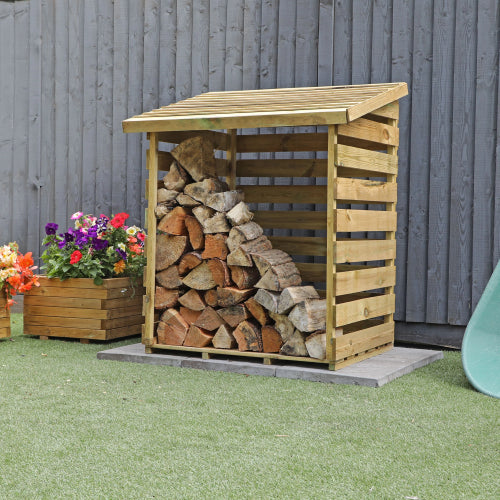 Mercia Single Log Store - GardenPromos