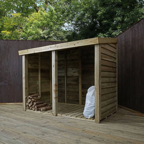 Mercia 3x7 - Premium Pressure Treated Double Log Store - GardenPromos