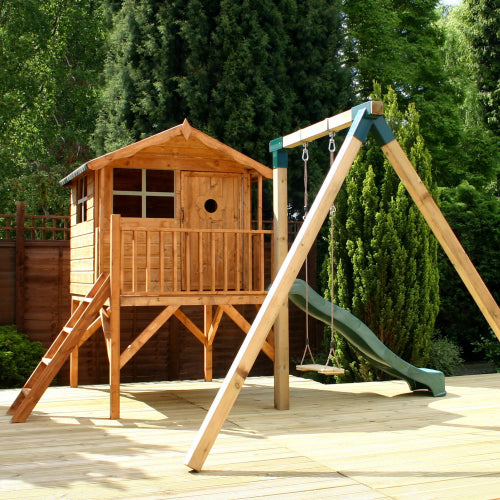 Mercia Tulip Playhouse with Tower & Activity Set - GardenPromos