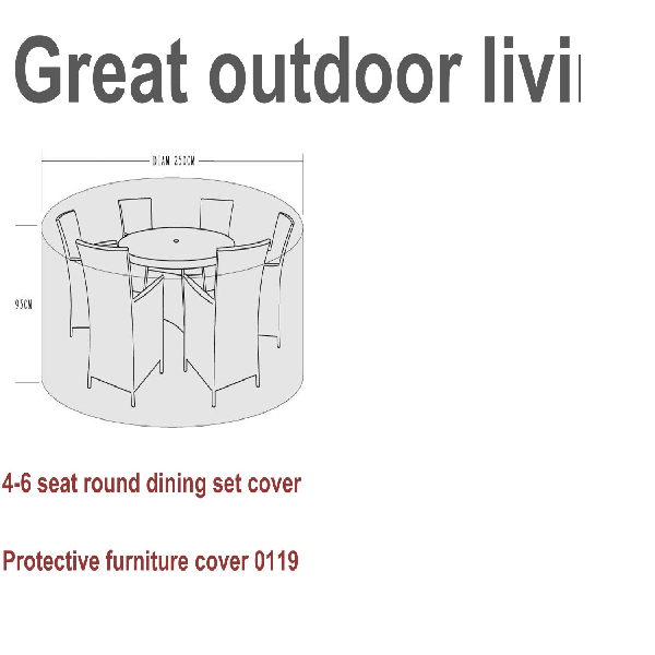 Signature Weave Protective Furniture Cover for 4-6 seat Dining sets - GardenPromos
