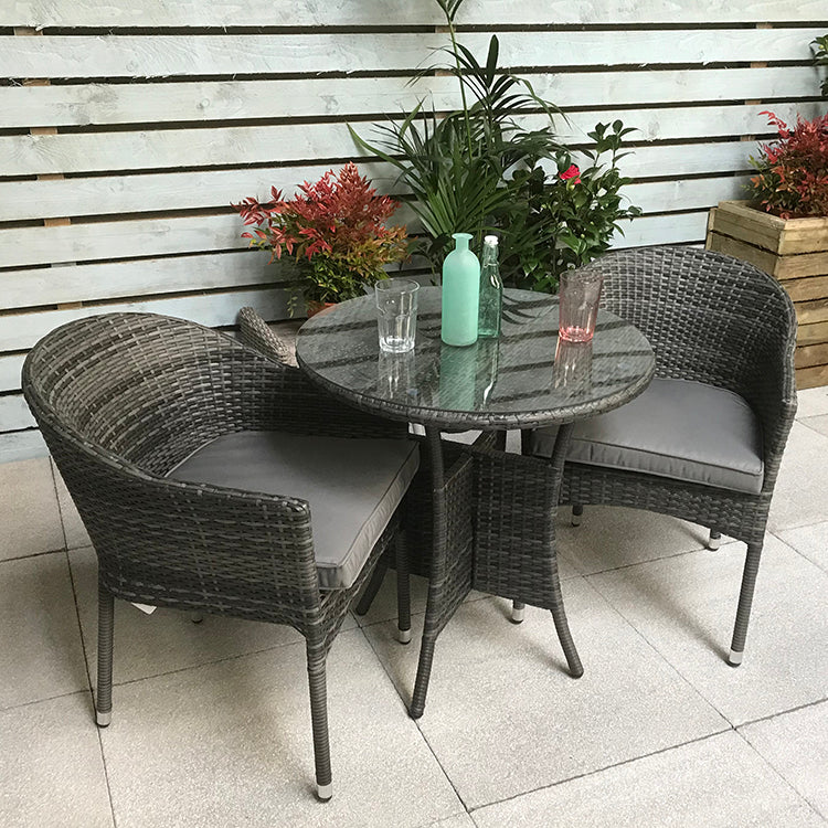 Signature Weave Emily Bistro Table with 2 Stacking Chairs - GardenPromos