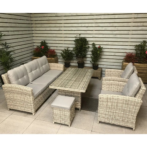 Signature Weave Amy 3 Seater Sofa Dining Set - GardenPromos