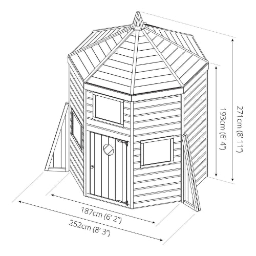 Mercia Rocket Playhouse - GardenPromos