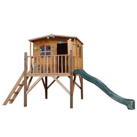 Mercia Rose Tower Playhouse & Slide - GardenPromos