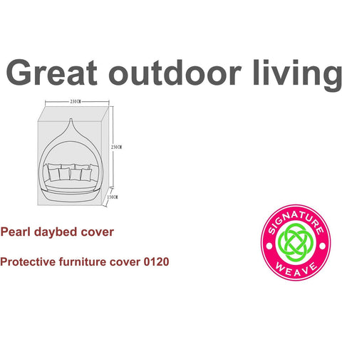 Image of Signature Weave Protective Furniture Cover For Pearl Daybed - GardenPromos