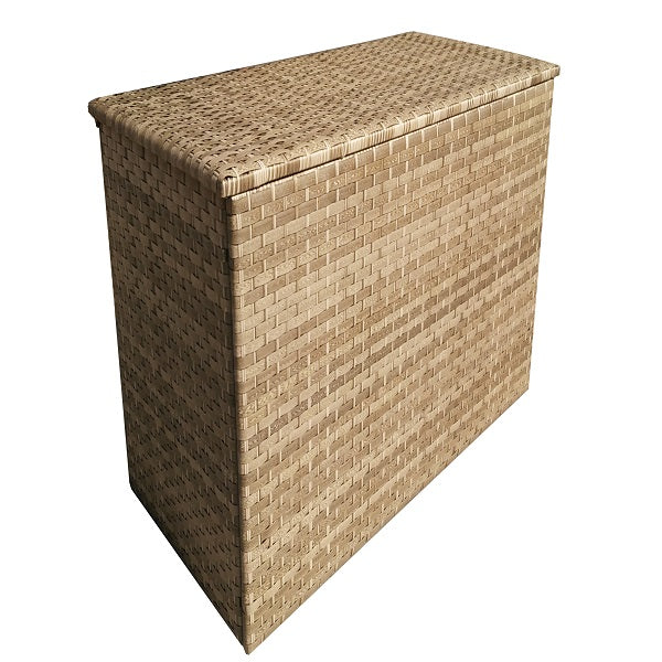 Signature Weave Large/Medium Cushion Box in 3 Weave Caramel - GardenPromos