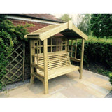 Churnet Valley Cottage 3 Seater Trellis Arbour - GardenPromos