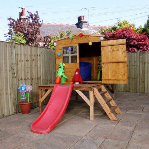 Mercia Bluebell Tower Playhouse & Slide - GardenPromos