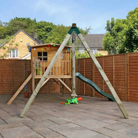 Image of Mercia Rose Tower Playhouse & Activity Set - GardenPromos