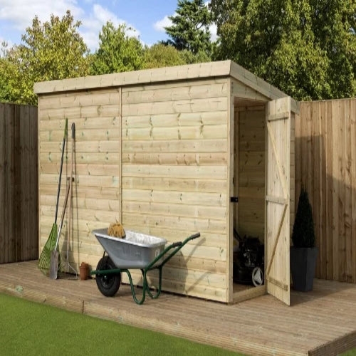 Empire Sheds Medium Pressure Treated Pent Garden Storage - GardenPromos